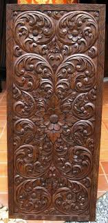best cnc products images on teak wood carved blessed door