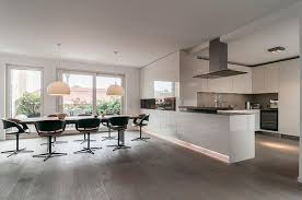 open kitchen ideas open kitchen design with white gloss cabinet and led lighting also