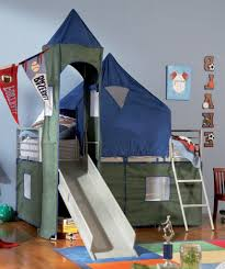 Bunk Beds For Kids Twin Over Full Bedroom Design Boys Twin Sports Bedding With Fancy Slider And