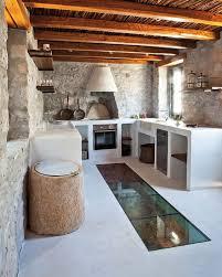 pierres et briques du style dans la cuisine ceiling ideas
