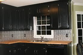 tin kitchen backsplash kitchen astounding l shape kitchen decoration using silver black