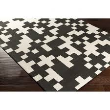 Plaid Area Rug Coffee Tables Outdoor Buffalo Check Rug Black And White