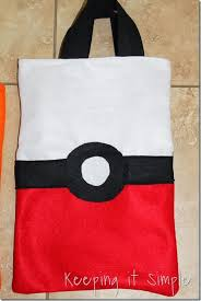 pokemon trick or treat bags keeping it simple crafts