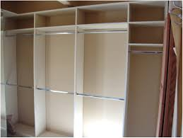 Home Interior Wardrobe Design by White Opened Wardrobe Design Feature Stainless Steel Inside In