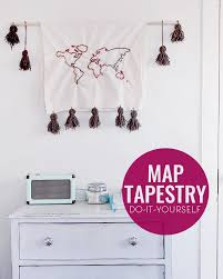 Map Tapestry Diy Map Tapestry Common Canopy