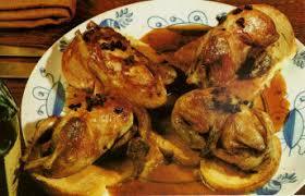recettes plats de volailles cailles sur canapé