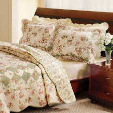 Pink Rose Duvet Cover Set Rural Turquoise Polka Dots Pink Flower Ruffle Embroidered Lace