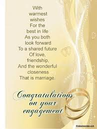 congratulations engagement card congratulations on your engagement wishes card picsmine