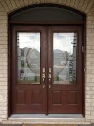Exterior Wood Doors With Glass Panels by Floor And Main Doors Design Wood Door Black Front Entry Doors In