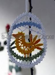 easter ornament tree easter machine embroidery 10508 easter egg free standing lace