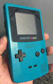 Gameboy Color Nintendo Gameboy Color Teal Gaming Console Excellent by Gameboy Color