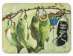 Fish Bath Rug East Urban Home Recession Food Fish Caught With Spam Memory Foam