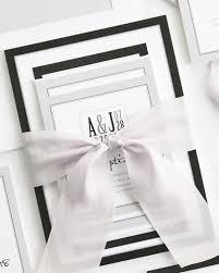 modern logo ribbon wedding invitations ribbon wedding