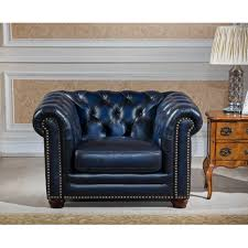 Blue Chesterfield Leather Sofa by Sofa 28 Amax Nebraska Chesterfield Genuine Leather Sofa