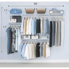rubbermaid configurations custom closet 4 8 ft white deluxe kit