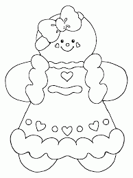 stylish ideas gingerbread coloring pages man page free printable