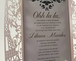 eiffel tower wedding invitations eiffel tower invites etsy