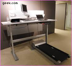 inspirational geek desk hands on steelcase walkstation treadmill