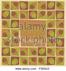 mosaic happy thanksgiving card in vector format stock vector