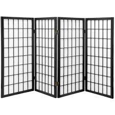 6 panel room divider oriental furniture 3 ft tall window pane shoji screen 4 panel