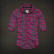 Hollister Clothes For Girls Hollister Womens Button Down Pink Plaid Shirt Top