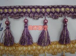Pumpkin Colored Curtains Decorating Yard Lot 17 Colors Curtain Lace Accessories Tassel Fringe Trim