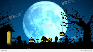 scary halloween full moon with tree pumpkin pop up and bats