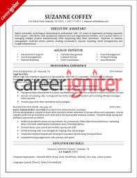 exle resume for executive assistant resume sle career igniter