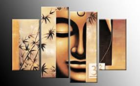 Hanging Art Height Buddha Canvas Picture Artwork Template Included For Easy Hanging