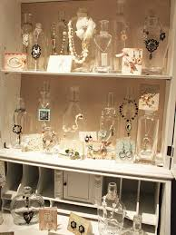 glass jars to display jewelry so would be if you