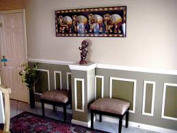 contemporary chair rail dining room traditional with sheer curtain