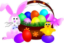 bunny basket eggs easter basket clipart image easter basket with a bunny and
