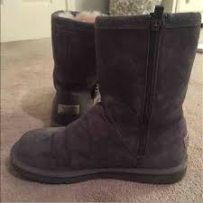 zipper ugg boots sale 69 ugg shoes grey ugg boots with side zipper from casey s