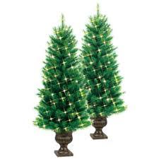 ge 4 ft indoor outdoor pre lit pine artificial tree with