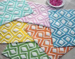 Reversible Cotton Bath Rugs Stylish Idea Cotton Bathroom Rugs Simple Design Home Source