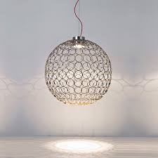 Ball Light Fixture by Silver Metal Ball Light Juliettes Interiors Chelsea London