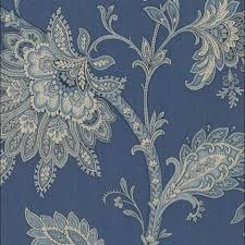 rl20012 classic blue and white paisley floral wallpaper