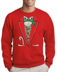 festive christmas tuxedo sweatshirt xmas party ugly sweater