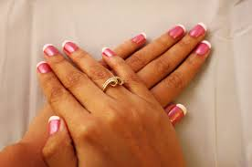 pink nails white tips how you can do it at home pictures