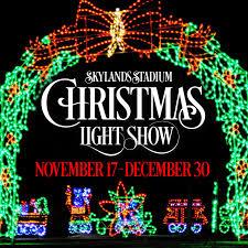 christmas lights events nj spectacular christmas light show at skylands stadium