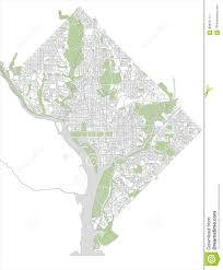 Map Of Washington Dc by Map Of The City Of Washington D C Usa Stock Vector Image
