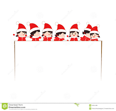 happy christmas banner with kids stock vector image 45512648