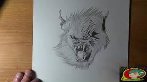 dessin loup garou spécial vidéo halloween youtube