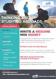 online resume builder for students annual scholarship online resume builders study abroad