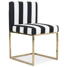 Black White Dining Chairs Modern Black And White Striped Dining Chair Modshop