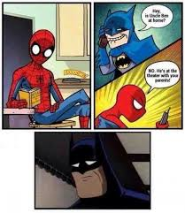 spiderman bathman cartoon jokes memes u0026 pictures