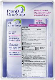 read the plan plan b one step emergency contraceptive levonorgestrel tablet 1 5