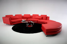 Red Sectional Sofas A94 Red Contemporary Sectional Sofa