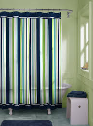 Shower Curtain Striped Blue Yellow And Green Striped Shower Curtain Shower Curtain Ideas