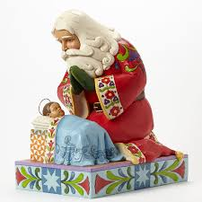 jim shore santa with baby jesus 22